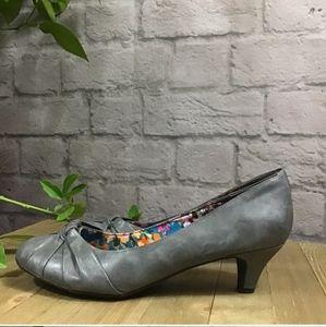 Gray Low Heels